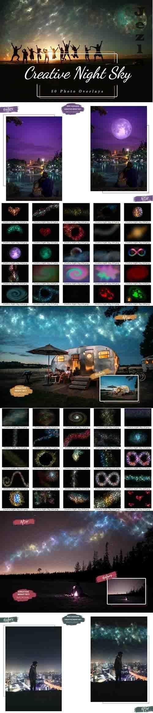 50 Creative Night Sky, Add Starry Sky To Photo, Moon Overlay - 1239110