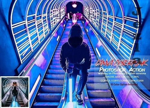 CreativeMarket - Canva Cyberpunk PHSP Action 5819597