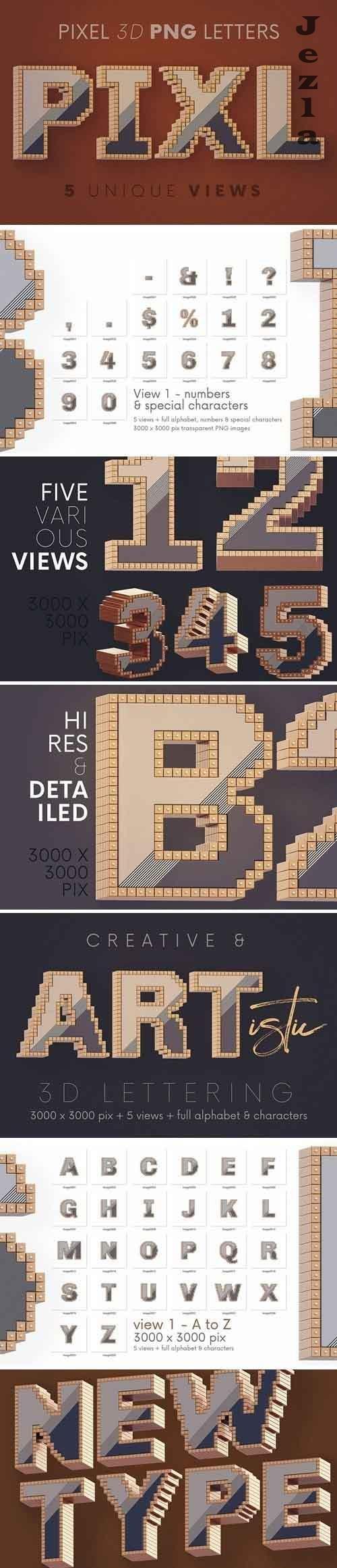 Pixel - 3D Lettering - 5780340
