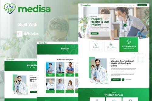 ThemeForest - Medisa v1.0.0 - Medical Elementor Template Kit - 30782110