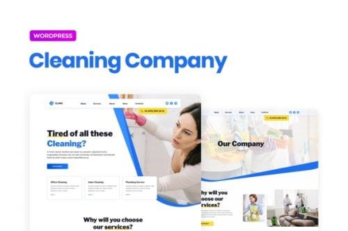 ThemeForest - Clino v1.0.0 - Cleaning Business Elementor Template Kit - 30768707