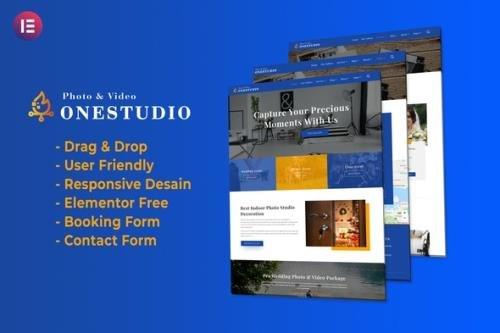 ThemeForest - Onestudio v1.0.0 - Photographer Agency Service Elementor Template Kit - 30212168