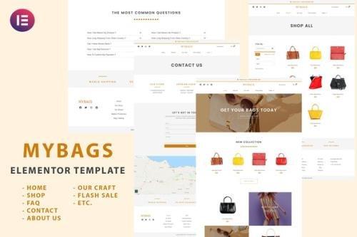 ThemeForest - Mybags v1.0.0 - Modern Commerce Elementor Template Kit - 29926952