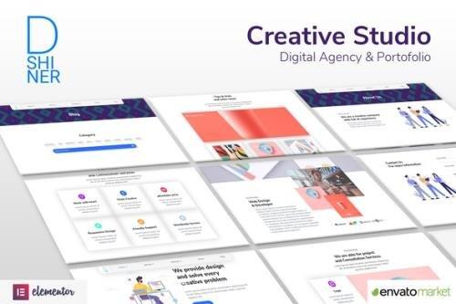 ThemeForest - D'Shiner v1.0.0 - Creative Studio & Digital Agency Elementor Template Kit - 30388253