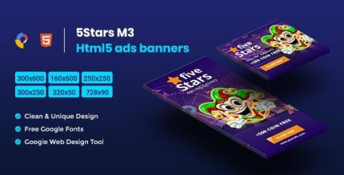 CodeCanyon - 5 Stars HTML5 Animate Banner Ads - GWD M3 v1.0 - 23753134