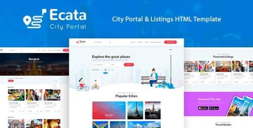 ThemeForest - Ecata v1.0 - City Guide HTML Template - 30807792