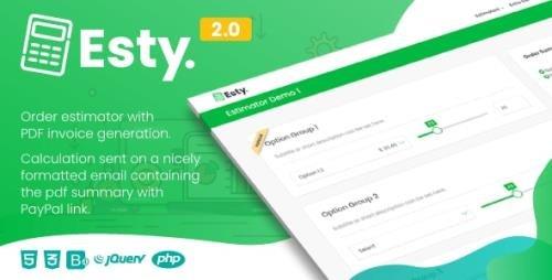 CodeCanyon - Esty v2.0 - Order Estimator and PDF Summary Generator - 27661239