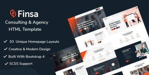 ThemeForest - Finsa v1.0 - Consulting Agency HTML Template (Update: 6 September 20) - 28369797