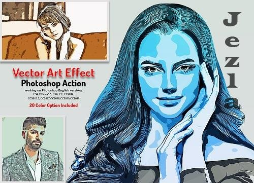 CreativeMarket - Vector Art Effect PHSP Action 5766338