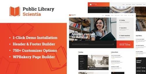ThemeForest - Scientia v1.0.1 - Public Library & Book Store Education WordPress Theme (Update: 2 March 21) - 24685526