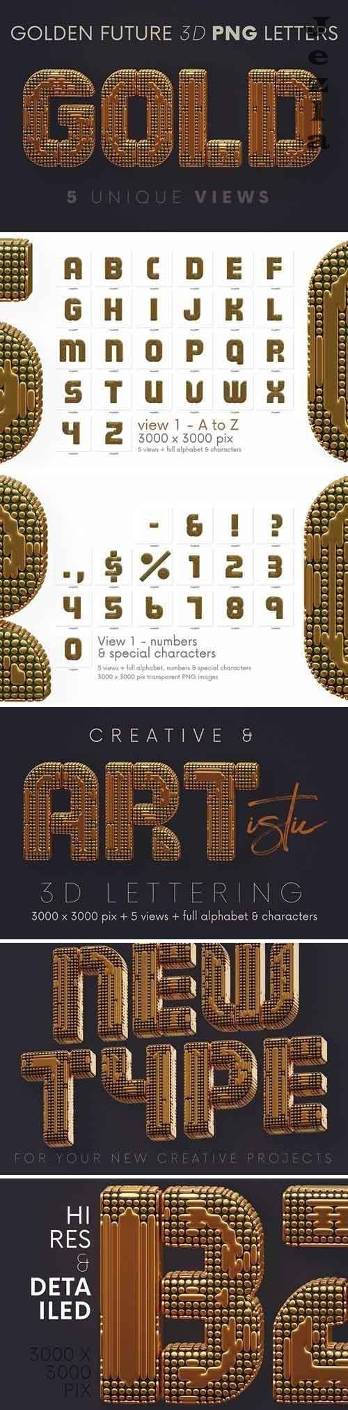 Golden Future - 3D Lettering - 5780618