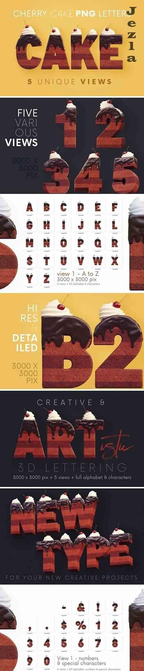 Cherry Cake - 3D Lettering - 5870050