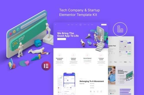 ThemeForest - Landon v1.0.0 - Tech Company & Startup Elementor Template Kit - 30953344