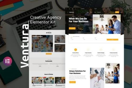 ThemeForest - Ventura v1.0.0 - Creative Agency Elementor Template Kit