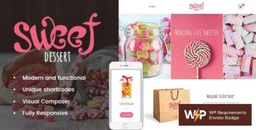 ThemeForest - Sweet Dessert v1.1.4 - Candy Shop & Cafe WordPress Theme - 19888037