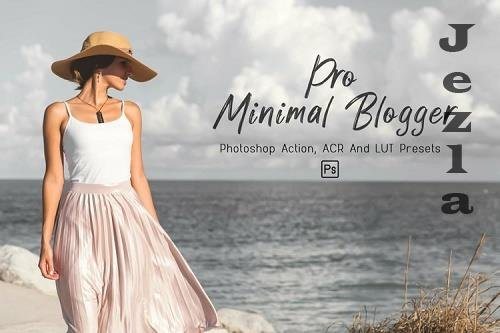 10 Pro Minimal Blogger PHSP Actions, ACR, LUT Presets - 1242701