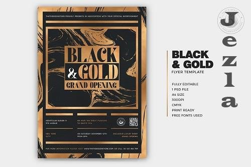 Black and Gold Flyer Template V24 - 5946079