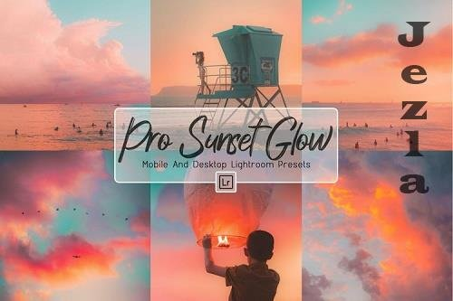 10 Pro Sunset Glow Desktop And Mobile LRM Presets - 1244624