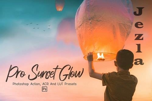 10 Pro Sunset Glow PHSP Actions, ACR, LUT Presets - 1244680