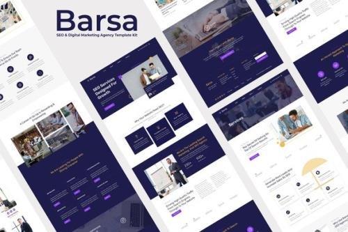 ThemeForest - Barsa v1.0.0 - SEO & Digital Marketing Agency Template Kit - 30958361