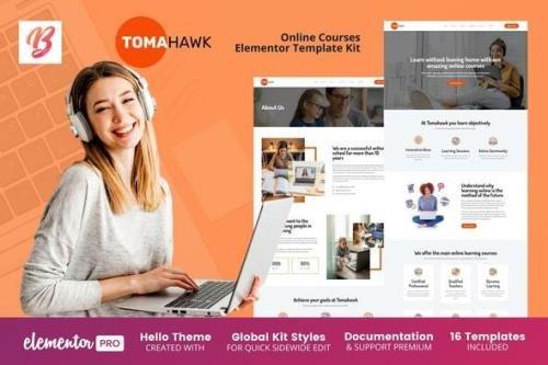 ThemeForest - Tomahawk v1.0.4 - Online Courses Elementor Template Kit - 28032418