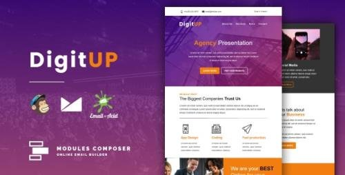 ThemeForest - Digitup v1.0 - Responsive Email for Agencies, Startups & Creative Teams with Online Builder - 30954409