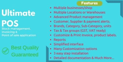 CodeCanyon - Ultimate POS v4.0 - Best Advanced Stock Management, Point of Sale & Invoicing application - 21216332 -