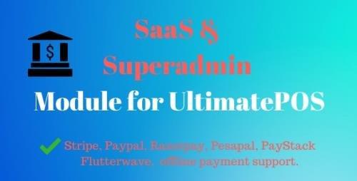 CodeCanyon - SaaS & Superadmin Module for UltimatePOS - Advance v2.5 - 22394431