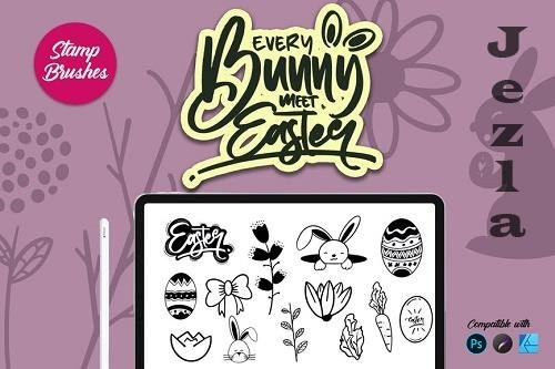 Bunny Easter | Stamp brush