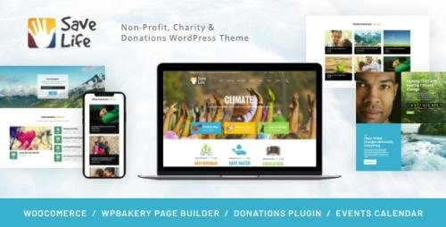 ThemeForest - Save Life v1.2.3 - Non-Profit, Charity & Donations WordPress Theme - 19561594