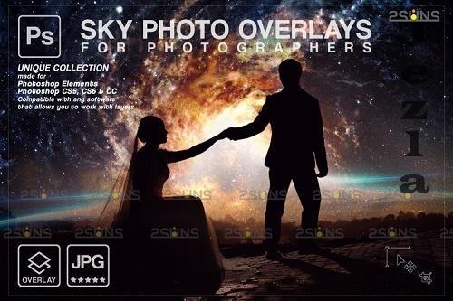 Night Sky Overlays, Pastel sky, sky overlay textures V5 - 1254129