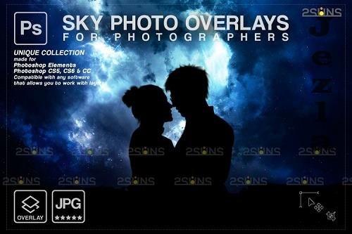 Night Sky Overlays, Pastel sky, sky overlay textures V6 - 1254130