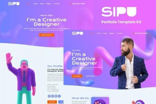 ThemeForest - Sipu v1.0.0 - Creative Portfolio Elementor Template Kit - 30893733