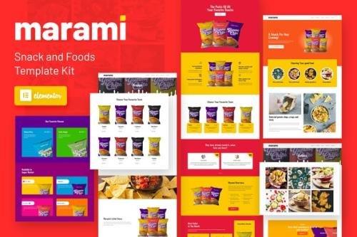 ThemeForest - Marami v1.0.0 - Snack Brand & Bakery Template Kit - 31066071