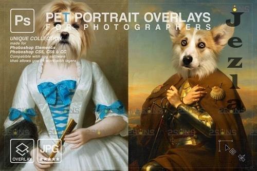 Royal Pet Portrait templates vol.18, Pet Painting - 1133448