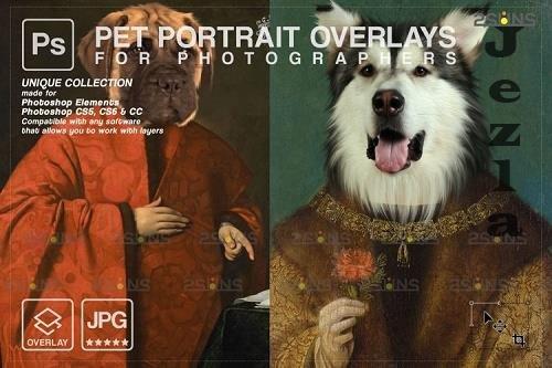 Royal Pet Portrait templates vol.19, Pet Painting - 1213589