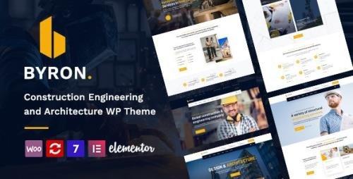ThemeForest - Byron v1.5 - Construction and Engineering WordPress Theme - 28520387