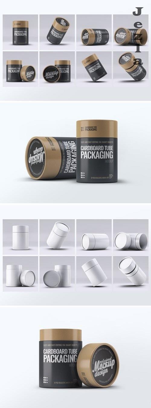 Cardboard Tube Packaging Mock-Up