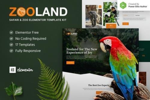 ThemeForest - Zooland v1.0.0 - Safari & Zoo Elementor Template Kit - 31103223