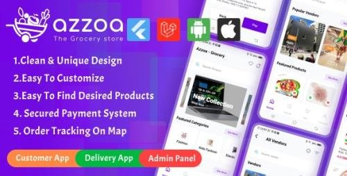 CodeCanyon - Azzoa v4.0.3 - Grocery, MultiShop, eCommerce Flutter Mobile App with Admin Panel - 29704281 - NULLED
