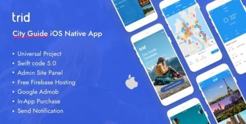 CodeCanyon - Trid v1.3.1 - City Travel Guide iOS Native with Admin Panel, Firebase - 22714506