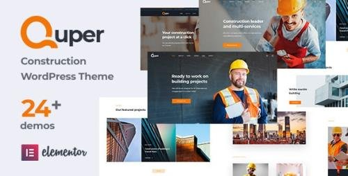 ThemeForest - Quper v1.6 - Construction and Architecture WordPress Theme (Update: 12 March 21) - 29101039