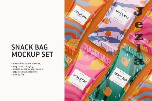 Snack bag mockup set 5933653
