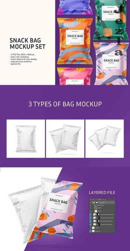 Snack bag mockup set 5960687