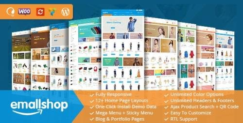 ThemeForest - EmallShop v2.2.19 - Responsive WooCommerce WordPress Theme - 18513022 -