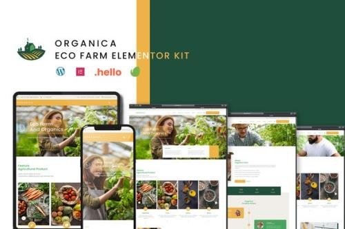 ThemeForest - Organica v1.0.0 - Eco Farm Elementor Template Kit - 31162349