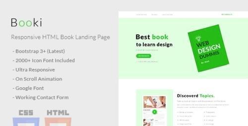 ThemeForest - Booki v1.0 - Responsive HTML Book Landing Page - 21208913