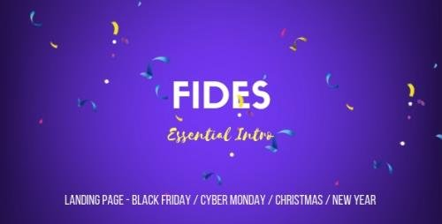 ThemeForest - Fides v1.0 - Essential Intro   Black Friday   Cyber Monday   Christmas   Campaign Landing Page Template - 22889193