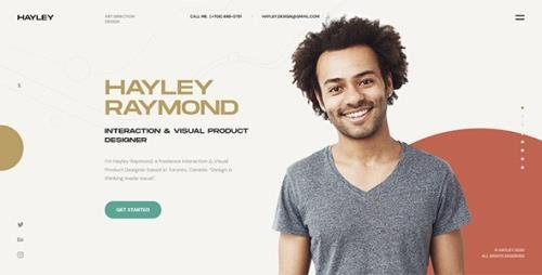 ThemeForest - HAYLEY v1.0 - Creative Personal CV/Resume HTML Template (Update: 28 June 20) - 26465627