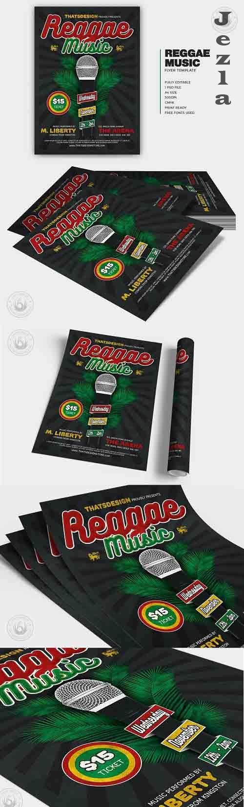 Reggae Music Flyer Template V3 - 5996804